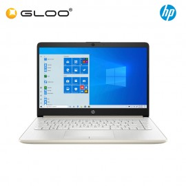 """NEW HP Laptop 14s-dk0024AX 14"""" HD (AMD Ryzen 3 3200U, 256GB SSD, 4GB, AMD Radeon 530 2GB, W10) - Gold [FREE] HP Backpack + Pre-Installed with Microsoft Office Home and Student"""
