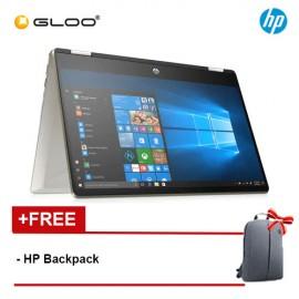 "NEW HP Pavilion x360 14-dh0041TX 14"" HD 2 in 1 Laptop (i5-8265U, 256GB SSD, 4GB, NVIDIA MX130 2GB, W10) - Silver [FREE] HP Backpack"