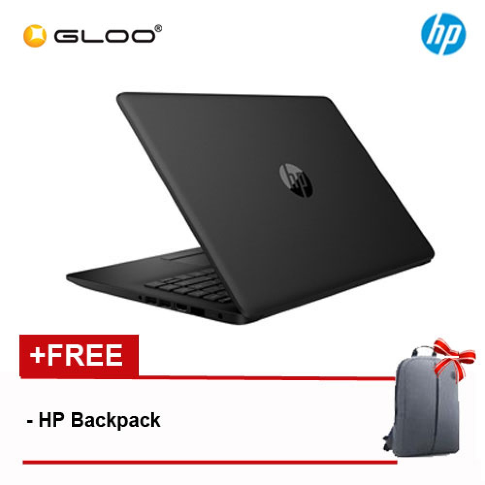 "HP 14-ck0099TU 14"" HD (i3-7020U, 1TB, 4GB, Intel® HD Graphics 620, W10) Notebook - Black [FREE] HP Backpack"