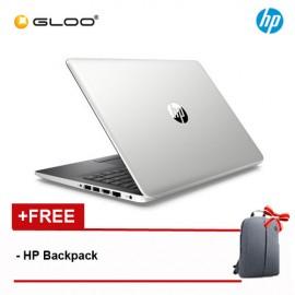 "HP 14-ck0100TU 14"" HD (i3-7020U, 1TB, 4GB, Intel® HD Graphics 620, W10) Notebook - Silver [FREE] HP Backpack"