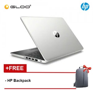 """NEW HP 14s-cf0067TX 14"""" HD Laptop (i3-7020U, 1TB, 4GB, AMD Radeon 530 2GB, W10) - Silver [FREE] HP Backpack"""
