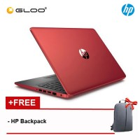 """HP 14-CM0088AU 14"""" HD Notebook (AMD A6-9225, 500GB, 4GB, AMD Radeon R4, W10) - Red [Free HP Backpack]"""