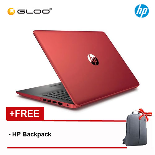 "HP 14-CM0088AU 14"" HD Notebook (AMD A6-9225, 500GB, 4GB, AMD Radeon R4, W10) - Red [Free HP Backpack]"
