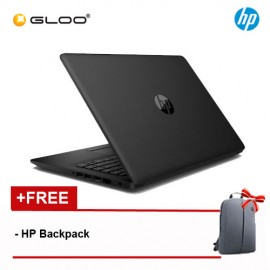 "HP 14-CK0096TU 14"" HD Laptop (Celeron N4000, 500GB, 4GB, Intel UHD Graphics 600, W10) - Black [Free HP Backpack]"