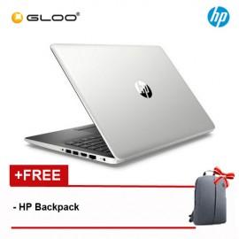 "HP 14-CK0097TU 14"" HD Notebook (Celeron N4000, 500GB, 4GB, Intel UHD Graphics 600, W10) - Silver [Free HP Backpack]"