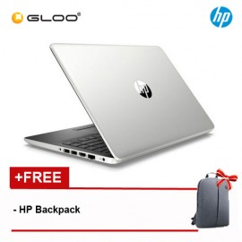 "NEW HP 14s-cf1026TX 14"" FHD Laptop (i7-8565U, 1TB, 4GB, AMD Radeon 530 2GB, W10) - Silver [FREE] HP Backpack"