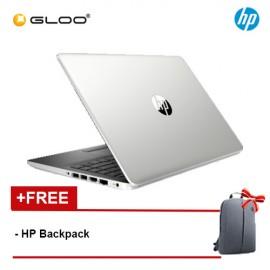 "NEW HP 14s-cf1060TX 14"" FHD Laptop (i7-8565U, 1TB+128GB SSD, 4GB, AMD Radeon 530 2GB, W10) - Silver [FREE] HP Backpack"