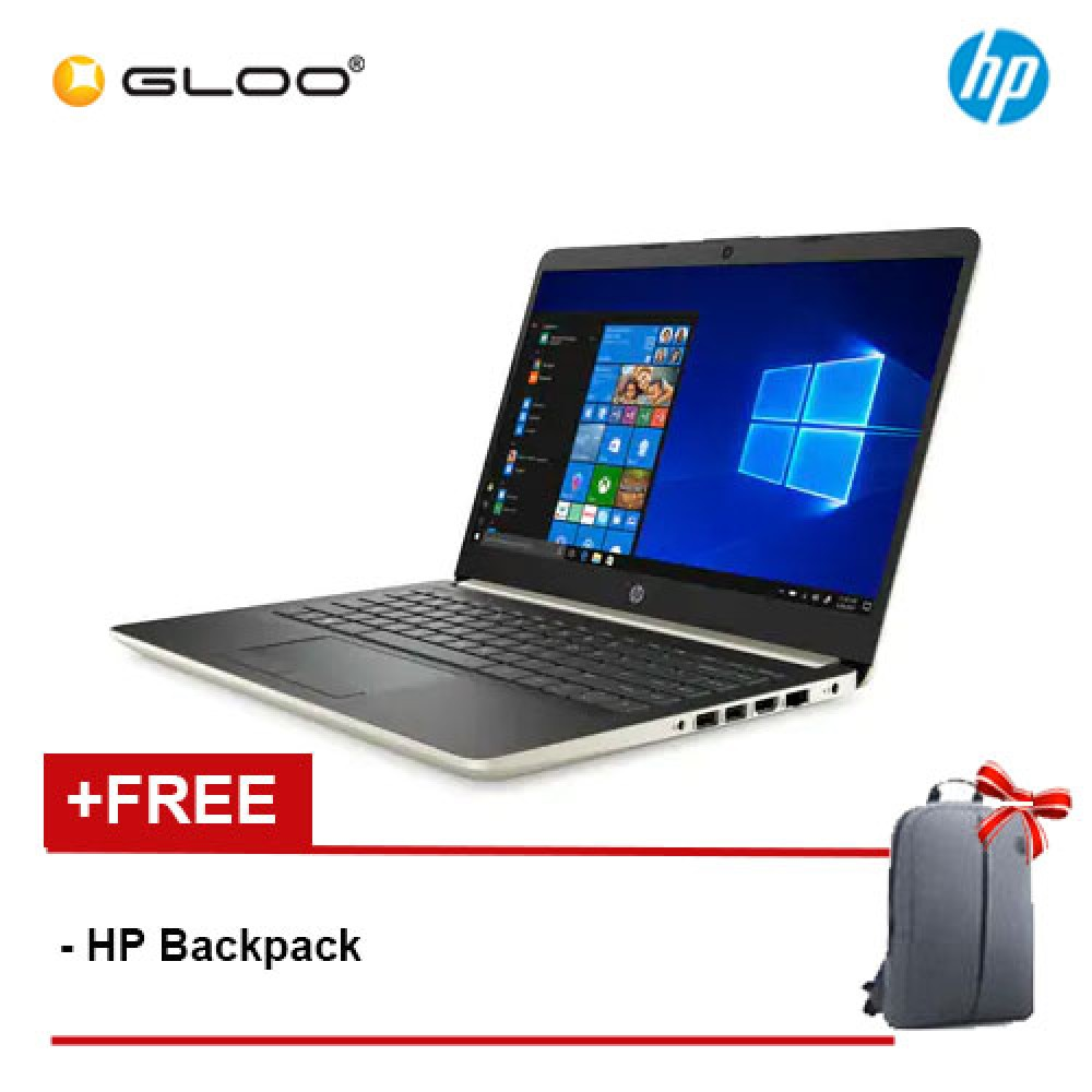 """NEW HP 14s-cf1061TX 14"""" FHD Laptop (i7-8565U, 1TB+128GB SSD, 4GB, AMD Radeon 530 2GB, W10) - Gold [FREE] HP Backpack + Complimentary Premium Merchandise Gift (C-Shaped Handle, Inverted Umbrella)*"""