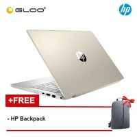 "NEW HP Pavilion 14-ce1063TX 14"" HD Laptop (i7-8565U, 1TB+128GB, 4GB, Nvidia GeForce MX150 2GB, W10) - Gold [FREE] HP Backpack"