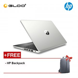 "HP Laptop 14s-cf2001TU 14"" HD (i3-10110U, 256GB SSD, 4GB, Intel UHD Graphics, W10) - Silver [FREE] HP Backpack"