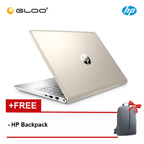 """HP Pavilion 14-bf102tx 2LS70PA 14"""" FHD (i5-8250U, 4GB, 1TB, NV 2GB, W10) - Gold [FREE] HP Backpack"""