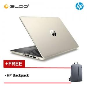 "HP Laptop 14s-cf2002TX 14"" FHD (i5-10210, 512GB SSD, 4GB, AMD Radeon 530 2GB, W10) - Gold [FREE] HP Backpack"