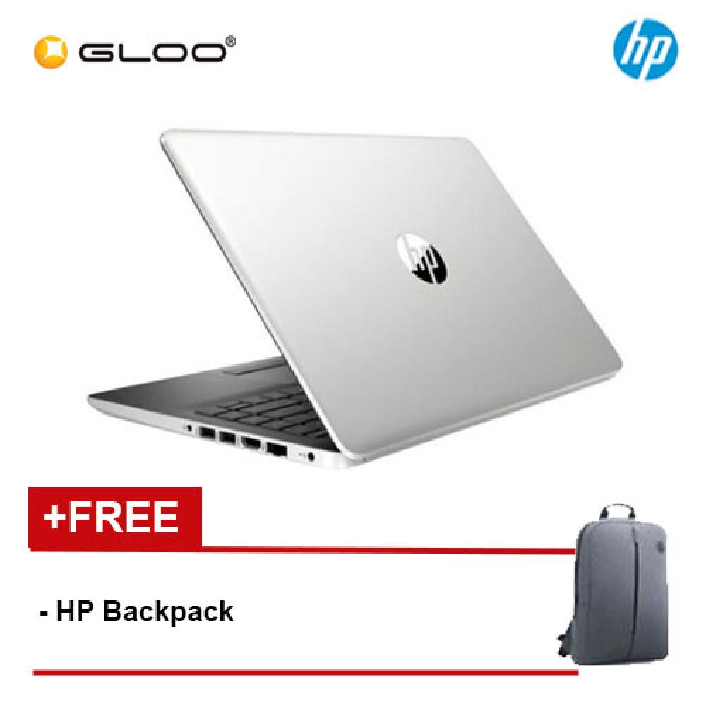 "NEW HP 14s-dk0107AU 14"" FHD Laptop (AMD Ryzen 5 5300U, 256GB, 4GB, AMD Radeon Vega 8, W10) - Silver [FREE] HP Backpack"