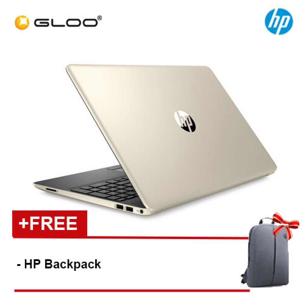 "NEW HP 15s-du0022TX 15.6"" FHD Laptop (i5-8265U, 1TB, 4GB, NVIDIA MX130 2GB, W10) - Gold [FREE] HP Backpack"