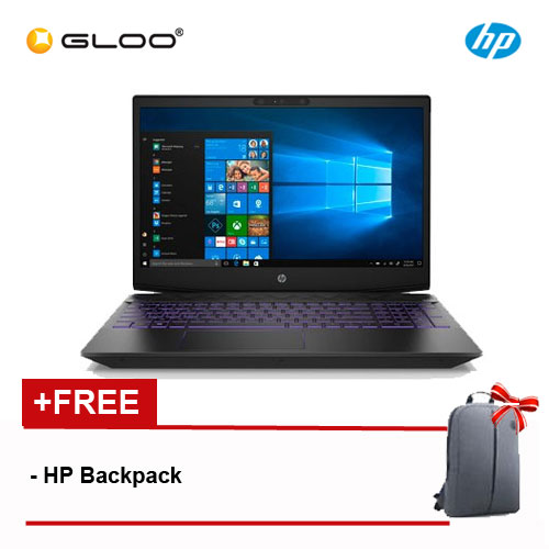 "HP Pavilion Gaming 15-cx0183TX 15.6"" FHD Laptop (i7-8750H, 1TB, 4GB, NVIDIA GTX1050 4GB, W10) - Ultra Violet [FREE] HP Backpack"