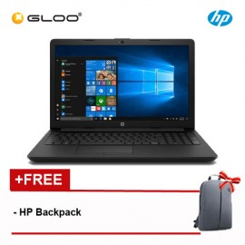 "HP 15-DA0006TX 4HG22PA 15.6"" HD (i5-8250, 4GB, 1TB, NV 2GB ,W10) - Black [FREE] HP Backpack"