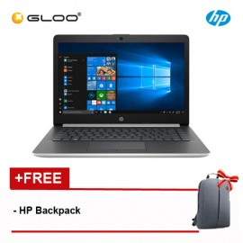 "NEW HP 14-cm0010AX 14"" HD Laptop (Ryzen3-2200U, 1TB, 4GB,  AMD Radeon 520 2GB, W10) - Silver [FREE] HP Backpack"