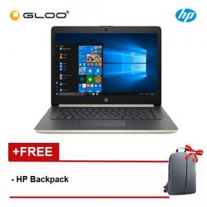 """HP 14-cm0012AX 14"""" HD Laptop (Ryzen3-2200U, 1TB, 4GB, Radeon 520 2GB, W10) - Gold [FREE] HP Backpack"""
