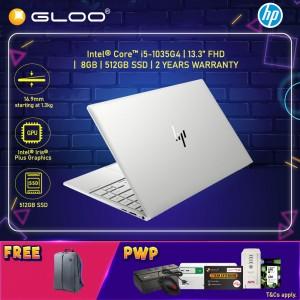 "NEW HP ENVY Laptop 13-ba0108TU 13.3"" FHD (i5-1035G4, 512GB SSD, 8GB, Intel Iris Plus Graphics, W10H) - Silver [FREE] HP Backpack"