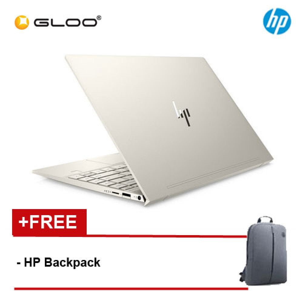 "HP Laptop ENVY 13-aq1002TX 13.3"" FHD (i7-10510U, 512GB SSD, 16GB, NVIDIA MX250 2GB, W10) - Gold [FREE] HP Backpack"