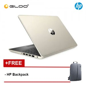 "NEW HP Laptop 14S-CF0125TU 14"" HD (Celeron N4000, 256GB SSD, 4GB, Intel UHD Graphics 600, W10) - Gold [FREE] HP Backpack"