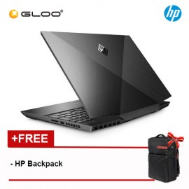 "NEW HP Omen Gaming Laptop 15-dh0039TX 15.6"" FHD (i7-9750H, 1TB+256GB SSD, 8GB, NVIDIA GeForce RTX 8GB, W10) - Shadow Black [FREE] HP Omen Backpack"