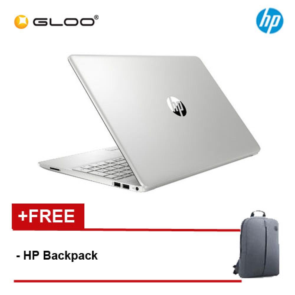 """NEW HP 15s-du1004tx 15.6"""" FHD Laptop (10th Gen Intel Core i5-10210U, 512GB SSD, 4GB, NVIDIA MX130 2GB, W10) - Silver [FREE] HP Backpack"""