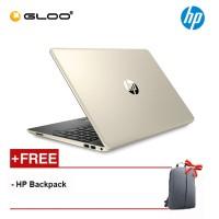 """NEW HP 15s-du1005tx 15.6"""" FHD Laptop (10th Gen Intel Core i5-10210U, 512GB SSD, 4GB, NVIDIA MX130 2GB, W10) - Gold [FREE] HP Backpack"""