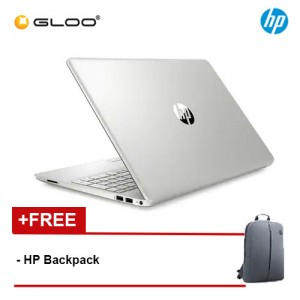 "NEW HP Laptop 15s-du1057TX 15.6"" FHD (i5-10210U, 512GB SSD, 4GB, NVIDIA MX130 2GB, W10) - Silver [FREE] HP Backpack"