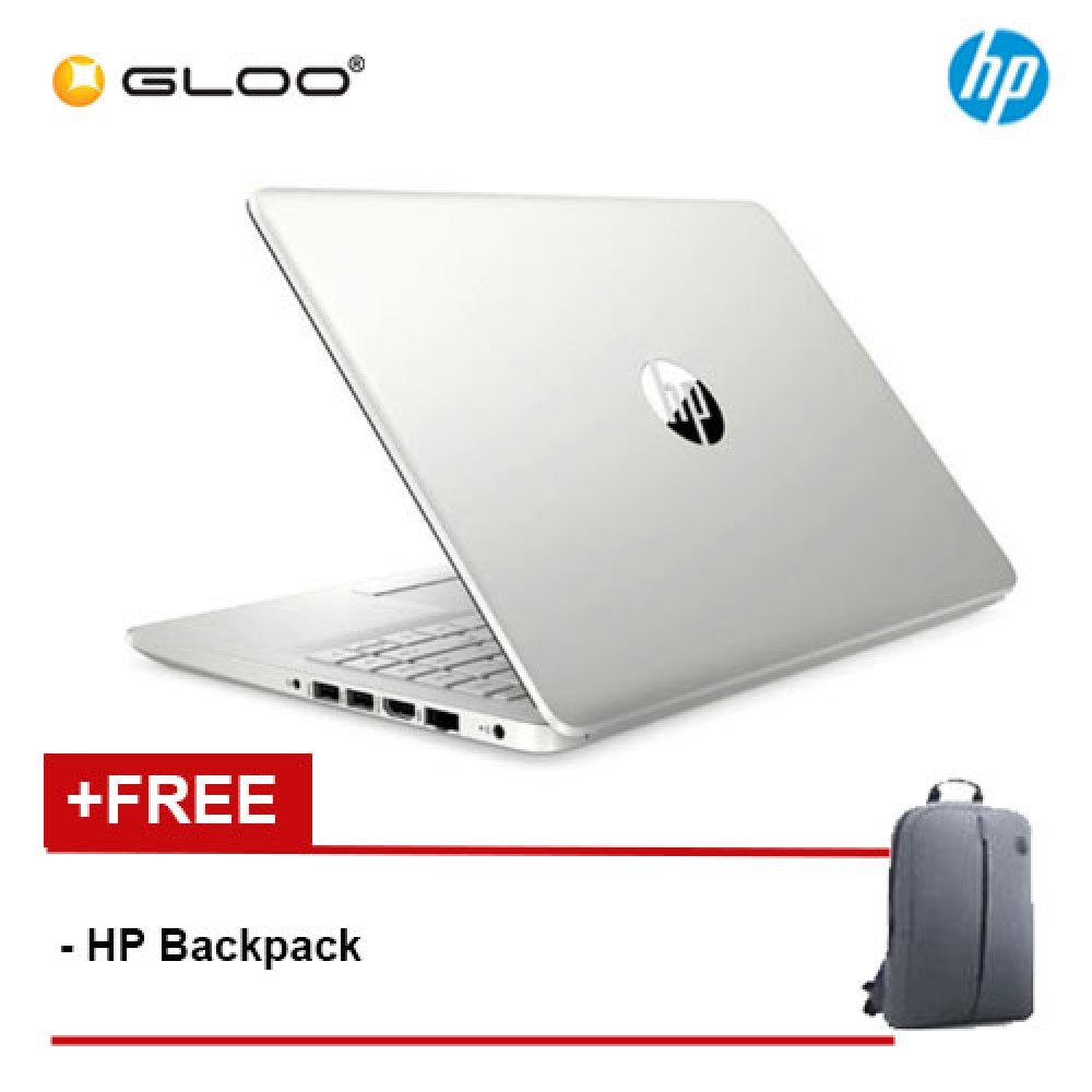 "NEW HP 14S-DK0012AX 14"" HD Laptop (AMD Ryzen 3 3200U, 256GB, 4GB, AMD Radeon 530 2GB, W10) - Silver [FREE] HP Backpack"