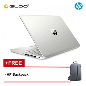 "NEW HP 14S-DK0012AX 14"" HD Laptop (AMD Ryzen 3 3200U, 256GB, 4GB, AMD Radeon 530 2GB, W10) - Silver [FREE] HP Backpack + Complimentary Premium Merchandise Gift (C-Shaped Handle, Inverted Umbrella)*"