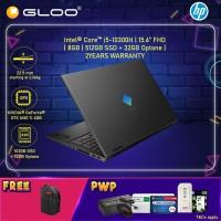 "NEW HP Omen Gaming Laptop 15-ek0109TX 15.6"" FHD (i5-10300H, 512GB SSD+32GB Optane, 8GB, NVIDIA GTX 1650 Ti 4GB, W10H) - Black [FREE] HP Omen Backpack (Grab/Touch & Go credit redemption : 1/2-30/4*)"