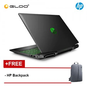"NEW HP Pavilion Gaming Laptop 15-dk0243tx 15.6"" FHD (i7-9750H, 512GB SSD, 8GB, NVIDIA GTX 1660 6GB, W10) - Shadow Black [FREE] HP Backpack"