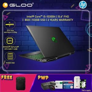 "NEW HP Pavilion Gaming Laptop 15-dk1135TX 15.6"" FHD (i5-10300H, 512GB SSD, 8GB, NVIDIA GTX 1650Ti 4GB, W10H) - Black [FREE] HP Pavilion Backpack"