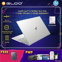 """NEW HP ENVY Laptop 15-ep0010TX 15.6"""" FHD (i7-10750H, 1TB SSD, 16GB, NVIDIA GTX 1660 Ti 6GB, W10H) - Silver [FREE] HP Backpack + Pre-Installed with Microsoft Office Home and Student (Grab/Touch & Go credit redemption : 1/2-30/4*)"""