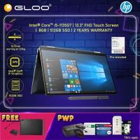 HP Spectre x360 Laptop 13-aw2099TU Intel®️ Evo™️ Platform Processor (i5-1135G7, 512G SSD, 8GB, Intel Iris Xe Graphics, W10H) - Poseidon Blue+ HP Sleeve + Active Pen + HP USB-C Hub + MS Office Home & Office (Redeem Grab/Touch&Go:1/5-31/7*)