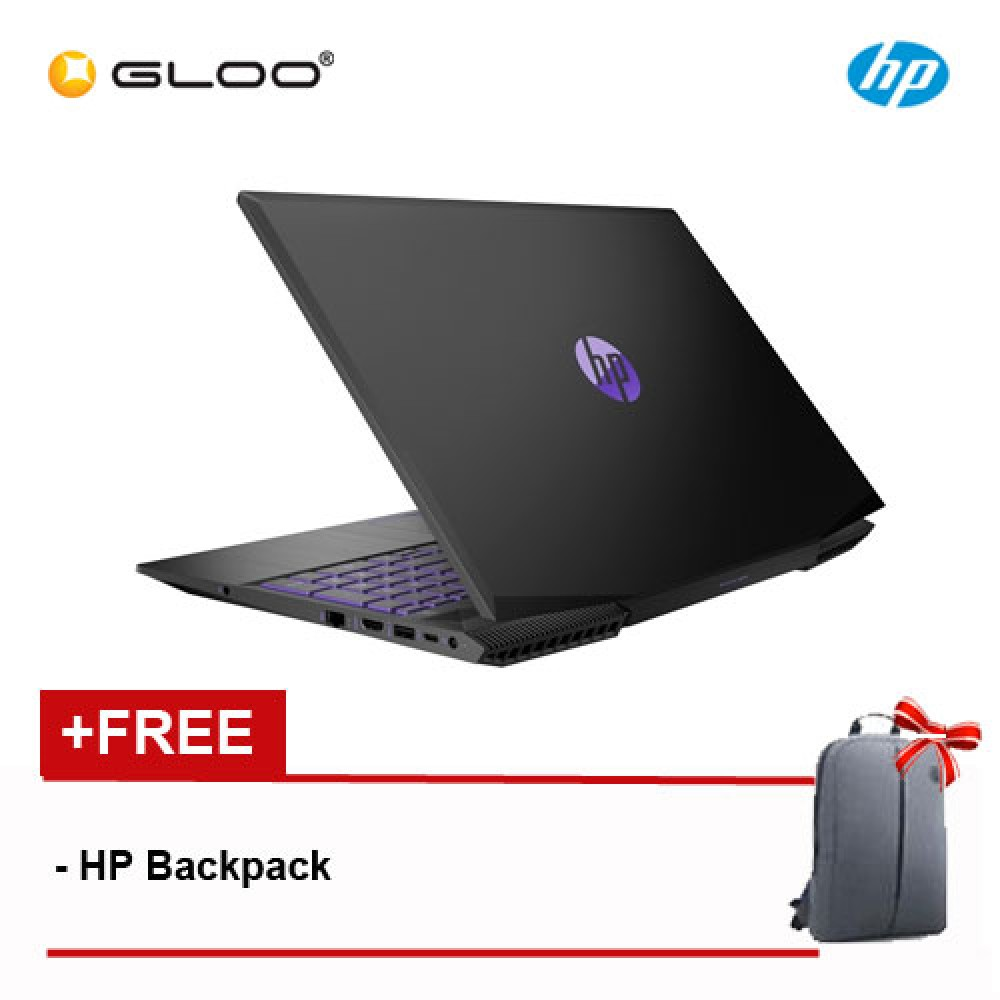 NEW HP Pavilion Gaming 15-cx0078TX Laptop (i5-8300H, 1TB, 4GB, NVIDIA GTX1050 2GB, W10) - Ultra Violet [FREE] HP Backpack
