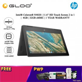 HP Chromebook X360 11 G3 43N32PA Touch Screen 2 in 1 (Celeron N4020, 32GB eMMC, 4GB, Intel UHD Graphics 600, Chrome OS) - Grey