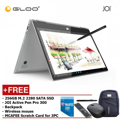 JOI Book Touch 300 [FREE GIFT 256GB M.2 2280 SATA SSD + JOI Active Pen Pro 300 + Backpack + Logitech Wireless Mouse + MCAFEE Scratch Card 3PC User]