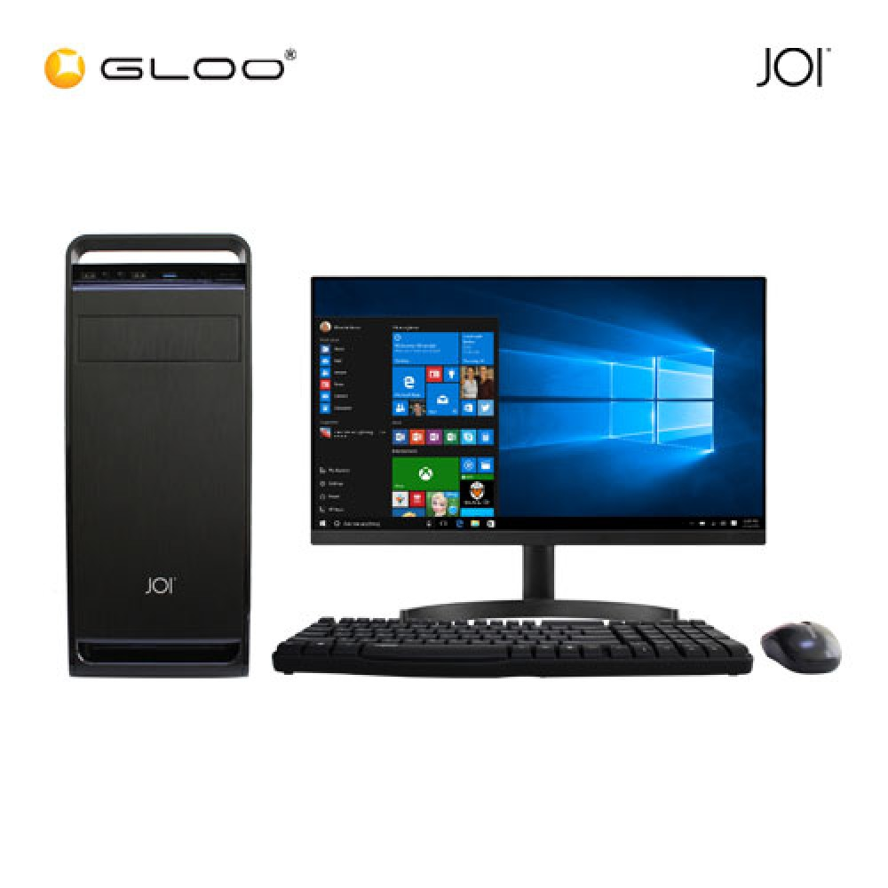 "JOI PC 225 (Intel Pentium Gold G5400,4GB RAM,240GB SSD,W10Pro) Free Combo Wired Keyboard+Mouse+18.5"" Monitor"