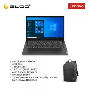 "Lenovo V14 G2 ALC AMD 82KCS02H00,AMD Ryzen3 5300U,4GB,128GB,Integrated,14.0""HD,W10P,1Y Premier Care [FREE] Lenovo Backpack"