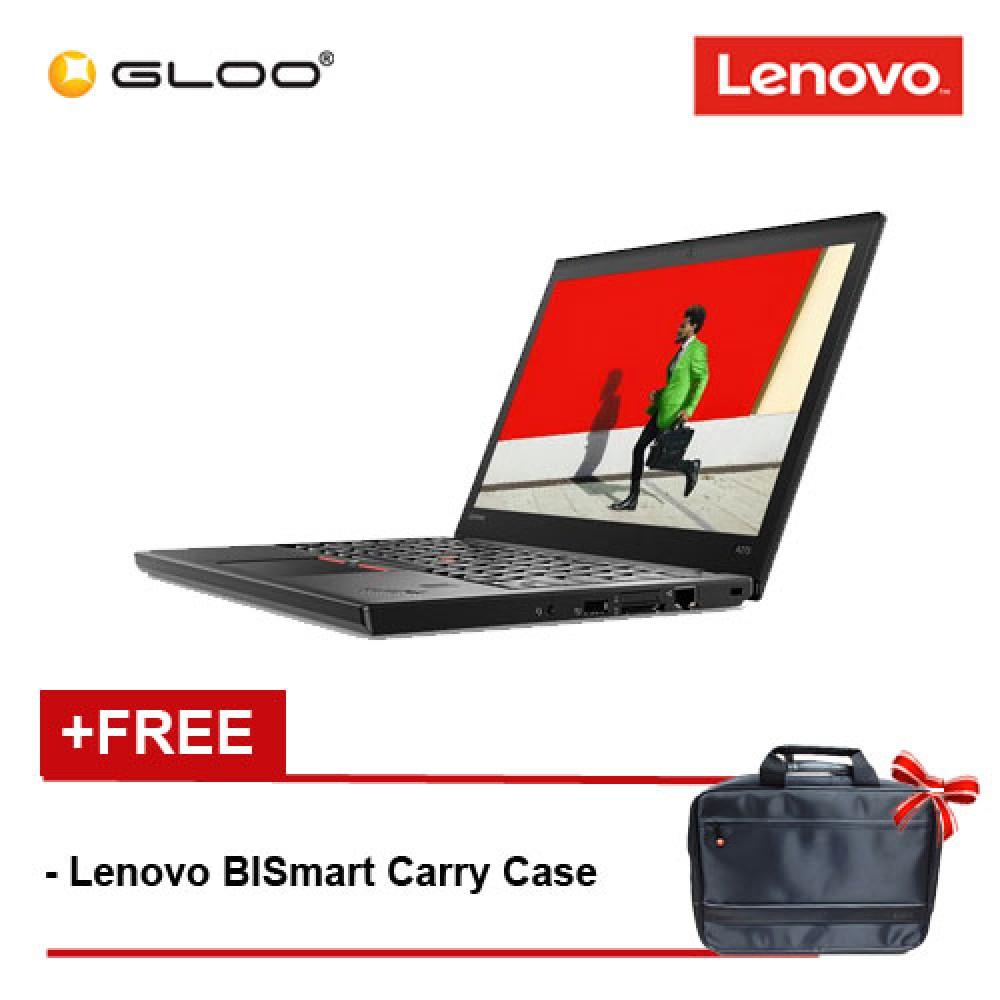"""Lenovo™ ThinkPad A275 (AMD PRO A12-9800B, 8GB, 1TB, 12.5"""" HD, W10, 3 Years Warranty) - Black [Free Lenovo BISmart Carry Case]"""
