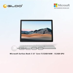 "(Surface for Student 10% off) [Pre-Order, ETA : 29/06/2020] Microsoft Surface Book 3 15"" Core i7/32GB RAM - 512GB GPU - SMN-00017"