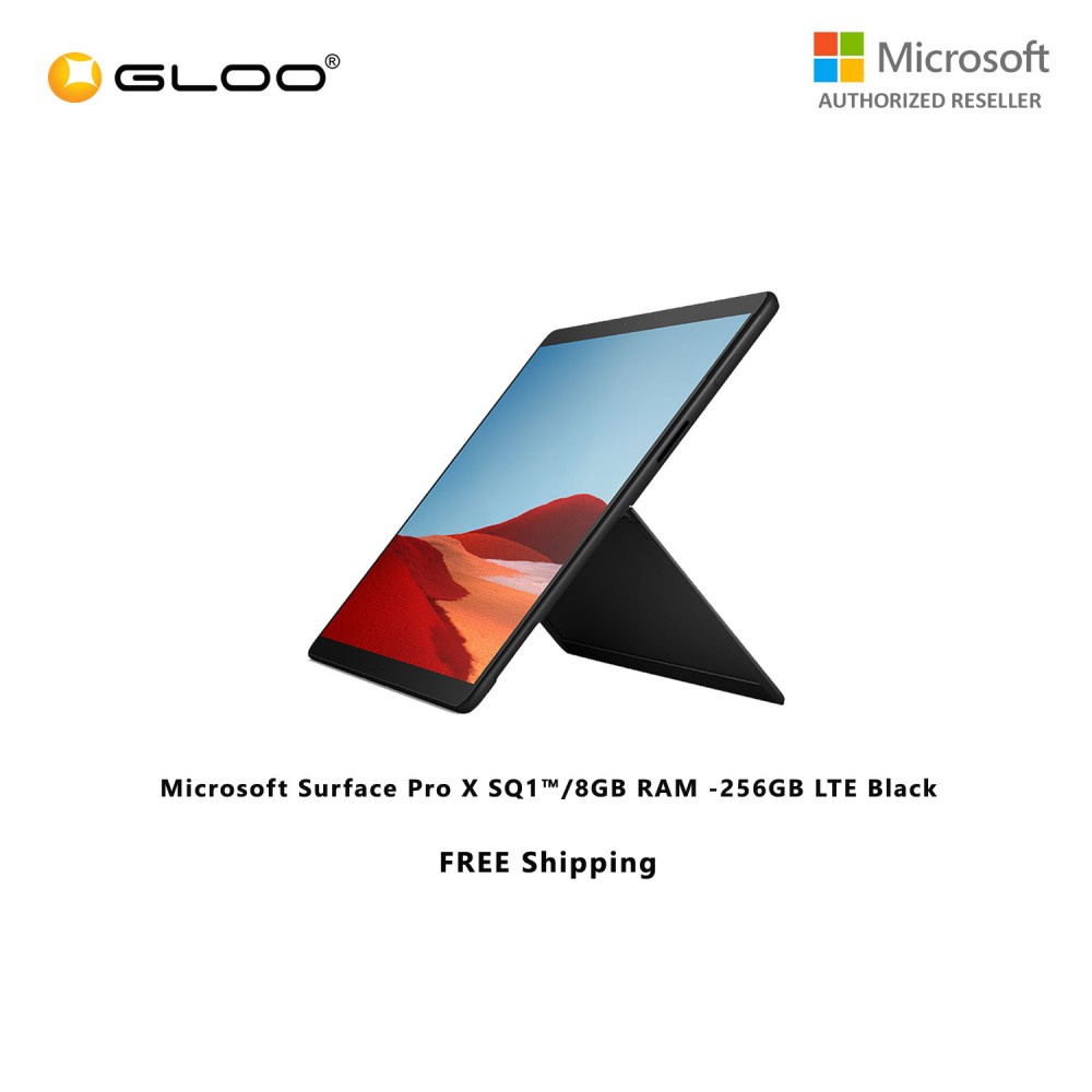 Microsoft Surface Pro X SQ1™/8GB RAM -256GB LTE Black [FOC RM150 Aeon Voucher 21/3/2020 - 31/3/2020 While Stock Last]
