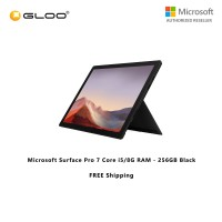 Microsoft Surface Pro 7 Core i5/8G RAM - 256GB Black - PUV-00025