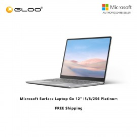 """(Surface For Student 5% Off) Microsoft Surface Laptop Go 12"""" I5/8/256 Platinum - THJ-00018"""