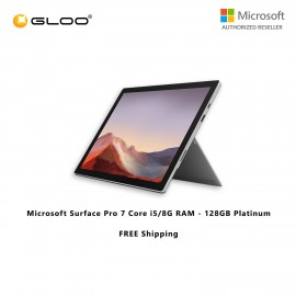 (Surface for Student 10% off) Microsoft Surface Pro 7 Core i5/8G RAM - 128GB Platinum - VDV-00012