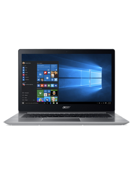 "Acer Swift 3 SF314-52-549V 14"" Laptop (I5-8250U, 4GB, 256GB SSD, Intel 620, W10H) – Sparkly Silver"