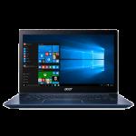 """Acer Swift 3 SF314-52-54FG 14"""" Laptop (I5-8250U, 4GB, 256GB SSD, Intel 620, W10H) – Stellar Blue"""