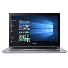 "Acer Swift 3 SF315-51-520J 15.6"" Laptop (I5-8250, 8GB, 256GB SSD, Intel 620, W10H) – Sparkly Silver"